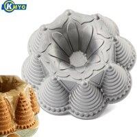 KMYC On Stick Cast Aluminum Bundt Cake Mold For DIY Baking 3D Cupcake Jelly Pudding Cookie