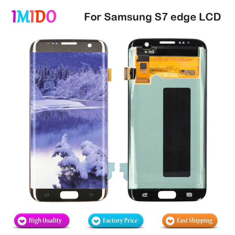 Best Quality For Samsung Galaxy S7 Edge LCD Display Touch Screen G935F G935FD LCD Display Touch Digitizer Screen Assembly