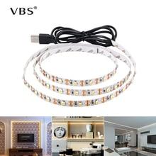 LED ภายใต้ตู้แสงสีขาว/อบอุ่นสีขาว RGB USB LED Strip Kitchen ตู้เสื้อผ้า Night Light Home ตู้เสื้อผ้า LED เทปไดโอด luz A1