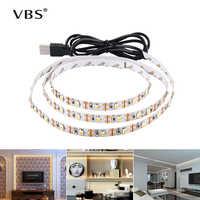 LED bajo la luz del Gabinete Blanco/blanco cálido RGB USB LED tira de cocina armario luz nocturna remoto hogar armario LED cinta de diodo luz A1