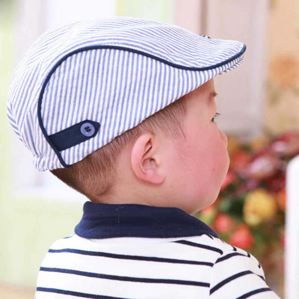 2fb3ee1710b Hot Sale New Stylish Kids Caps Cute Infant Baseball Cap Baby Hat Stripe  Beret Fashion High Quality-in Hats   Caps from Mother   Kids on  Aliexpress.com ...