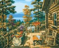 رسمت باليد زيت على قماش اللوحة بواسطة أرقام diy الرقمية زهرة جدار الفن صور كوادروس ديكور المنزل التلوين HY945