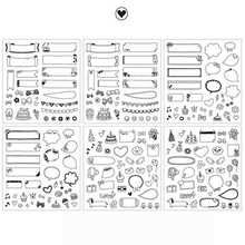 6Pcs Korean Adhesive Cute Sticker Handmade Stationery Store Gift Label Tag Scrapbooking Diary DIY Post it Notebook Album Planner