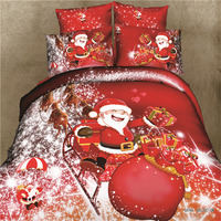 Christmas Home Textile Ded Set Bedclothes Bedsheet And Duvet Set