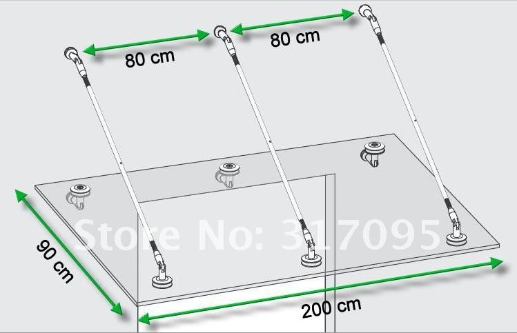 KIN MADE Stainless steel Glass Canopy Kits/Awning for windows & doors Glass roof - 3
