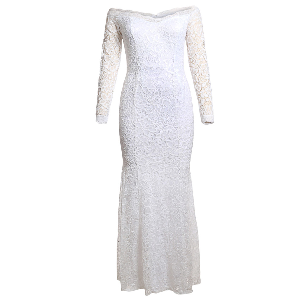 Blanc Blanche blue Zipper Robe Retour Encolure Pour Sexy Femmes Crochet Mode Les Nu white Black Dos Dress Maxi Party red Rw57q