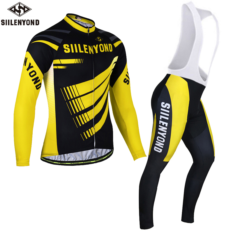 Siilenyond Farfax Long Sleeve Winter Thermal Fleece Cycling Jerseys Bike Jersey Ropa Ciclismo Invierno MTB Bicycle Clothing Set malciklo winter fleece thermal cycling jersey set long sleeve bicycle bike clothing pantalones ropa ciclismo invierno wears