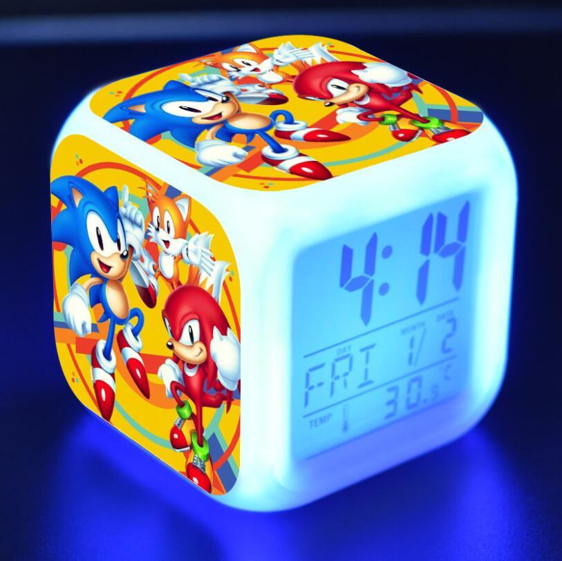 Sonic The Hedgehog LED Cube Alarm Clock 26