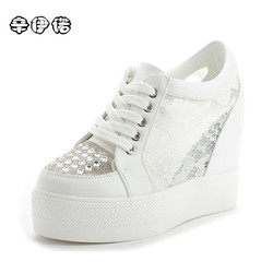Fashion sweet lace roman shoes women wedge heels white platform pumps high heels sandals zapatos plataforma.jpg 250x250
