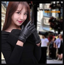 GLV955 women winter sheepskin touch screen keep warm font b gloves b font outdoor cycling driving