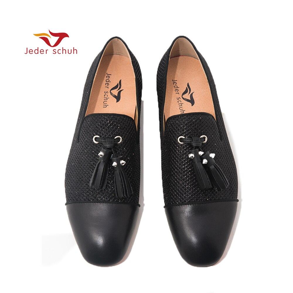 Jeder Schuh męskie mokasyny czarny 3 D o strukturze plastra miodu konstrukcja górna ze skóry palce dla mężczyzn bankiet i wesele buty mężczyźni mieszkania w Męskie nieformalne buty od Buty na AliExpress - 11.11_Double 11Singles' Day 1