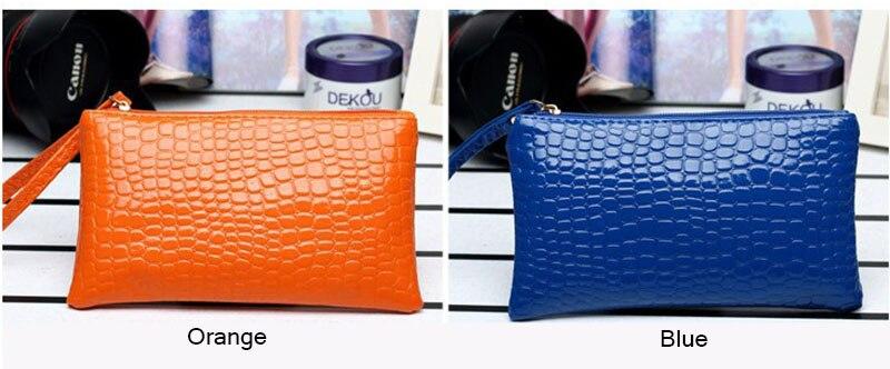 New Mini Day Clutches Women's Bag Korean Version Crocodile Pattern Clutch Bag Ladies Mobile Phone Bags Wallet PU Leather Handbag (5)