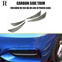 Carbon Fiber Front Bumper Side Canards Splitter Spoiler for BMW F87 M2 E90 E92 E93 F80 M4 F82 F83 M4 F10 M5 F16 F12 F13 M6