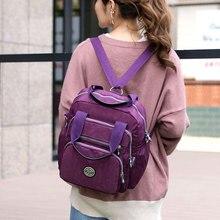 Female Backpack Nylon Waterproof Women Backpack Multi Pockets Large Capacity Shoulder Bags Student School Bag for Teenager Girls