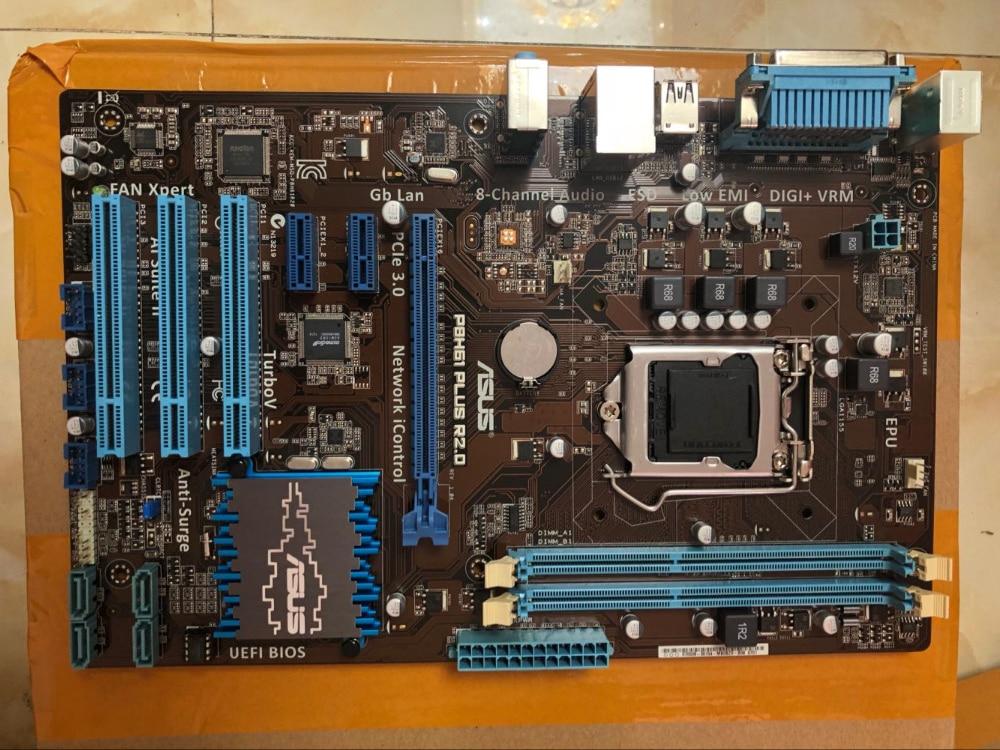 Free shipping original motherboard for ASUS P8H61 PLUS R2.0 DDR3 LGA 1155 16GB H61 H61 Desktop Motherboard