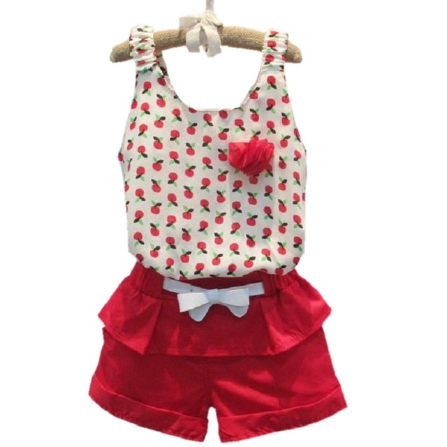 69bd69021ee8 2017 Summer Style Baby Girls Clothing Set Sleeveless Polka Dot Vest+ ...