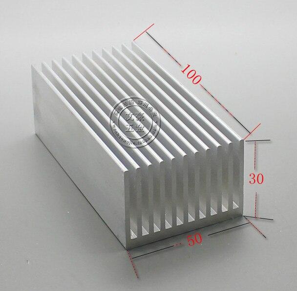 Fast Free shipping Aluminum radiator panel 100*50*30MM Aluminum heatsink 5pcs lot pure copper broken groove memory mos radiator fin raspberry pi chip notebook radiator 14 14 4 0mm copper heatsink