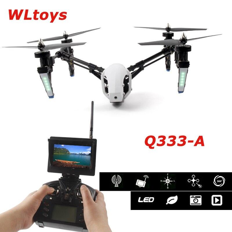 Wltoys Q333 A q333a 5.8g 4ch 변압기 원 키 리턴 및 헤드리스 모드 rc 쿼드 콥터, 720 p hd fpv 카메라 hd 모니터 rtf-에서RC 헬리콥터부터 완구 & 취미 의  그룹 1