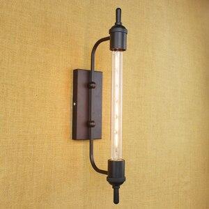 Image 5 - vintage steam pipe  retro black metal wall lamp for Bathroom Vanity Lights/porch light/night light/lighting fixture sconce bar