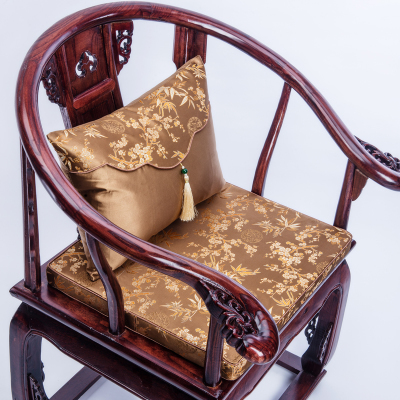 thick chair cushions swivel lock vintage floral seat cushion gap pad chinese silk sofa mat xmas decorative lumbar pillow in from home garden
