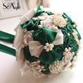 SoAyle Gorgeous Crystal Wedding Bouquet Brooch Wedding Accessories Bridesmaid Artifical Wedding Flowers Bridal Bouquets