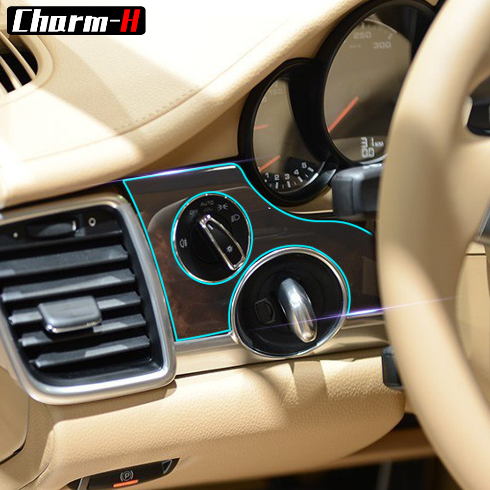 hight resolution of interior tpu protective film sticker for porsche panamera 4s 2015 2017 car center console door gear shift panel accessories in car stickers from automobiles