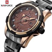 NAVIFORCE Marca Completa de Acero relojes de Los Hombres Del Ejército Militar Hombres de Los Relojes del Reloj de Cuarzo Horas Reloj de Pulsera Deportivo Reloj del relogio masculino