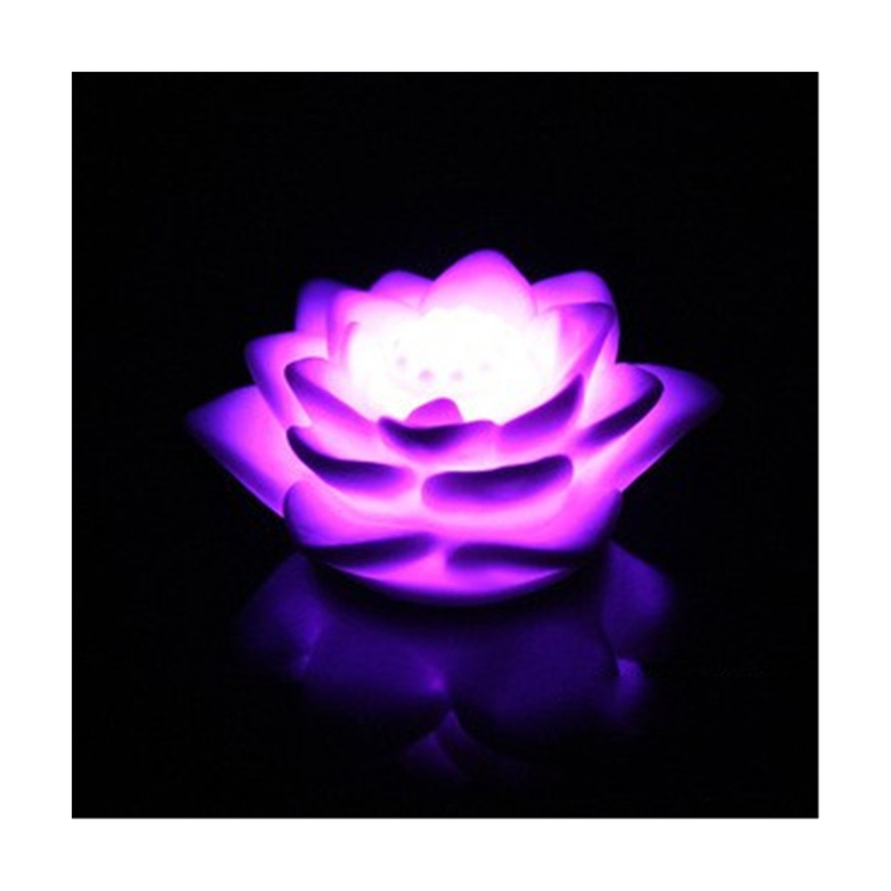 Yunlights Color Changing Led Floating Lotus Flower Romantic Love