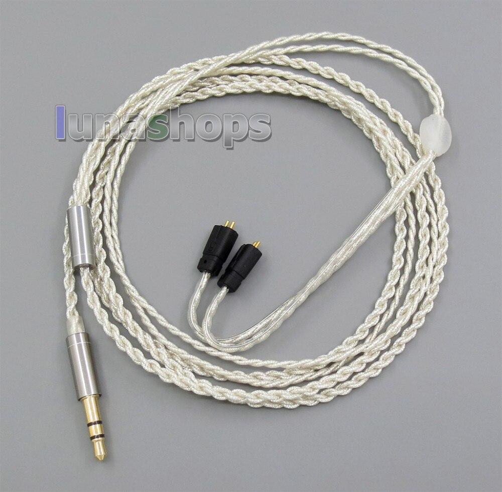 bilder für 3,5mm Mit Kopfhörer Haken Silberfolie PU Haut Kabel Für Ultimate Ears UE TF10 SF3 SF5 5EB 5pro TripleFi 15vm LN005524