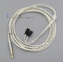 3.5mm Con Cable Auricular Gancho Hoja de Plata PU Piel Para Ultimate Ears UE TF10 SF3 SF5 5EB 5pro TripleFi 15vm LN005524