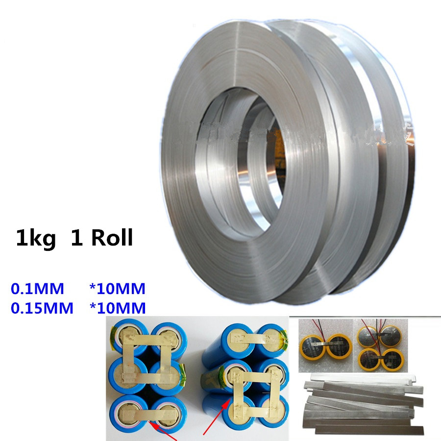 1kg 1 Roll 10mm Nickel plated steel belt 18650 battery nickel Lithium Battery connecting piece for spot welding
