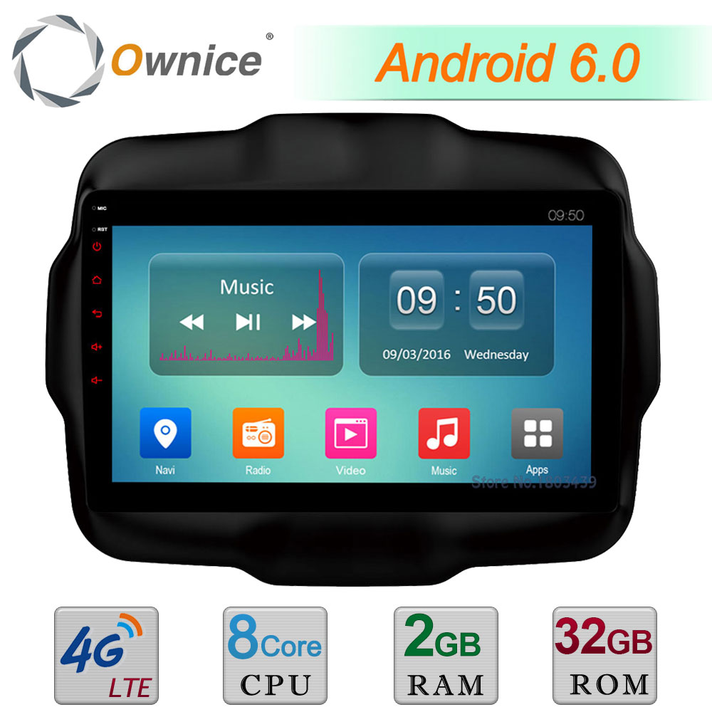 Octa Core 2GB RAM 32GB ROM C500+ 9&#8243; Android 6.0 4G LTE WIFI DAB+ Car DVD Player Radio For <font><b>Jeep</b></font> Renegade 2015-2017 GPS Navigation