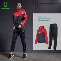 3740fc96d7c3 VANSYDICAL Women S Hot Sweat Yoga Suit Training Jacket Running Fitness Two  Piece Loose Sportswear Hot