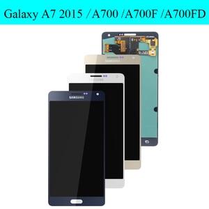 "Image 2 - סופר AMOLED 5.5 ""LCD לסמסונג גלקסי A700 LCD מסך מגע Digitizer עבור SAMSUNG A7 2015 תצוגת A700H A700F a700S A700K"