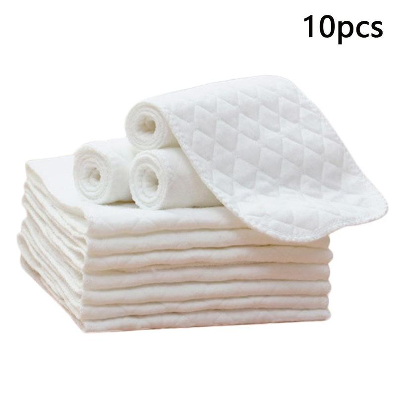 10pcs 32*12cm Dolls Available Washed Three-layer Ecological Cotton Diapers Newborn Baby Cotton Diapers Cotton Baby Products