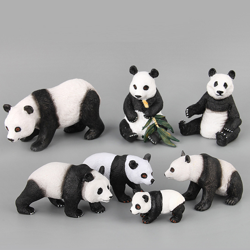 Toys Panda-Model Mammals Cute Doll-Boutique Static-Ornaments Simulation-Of-A-Variety-Of