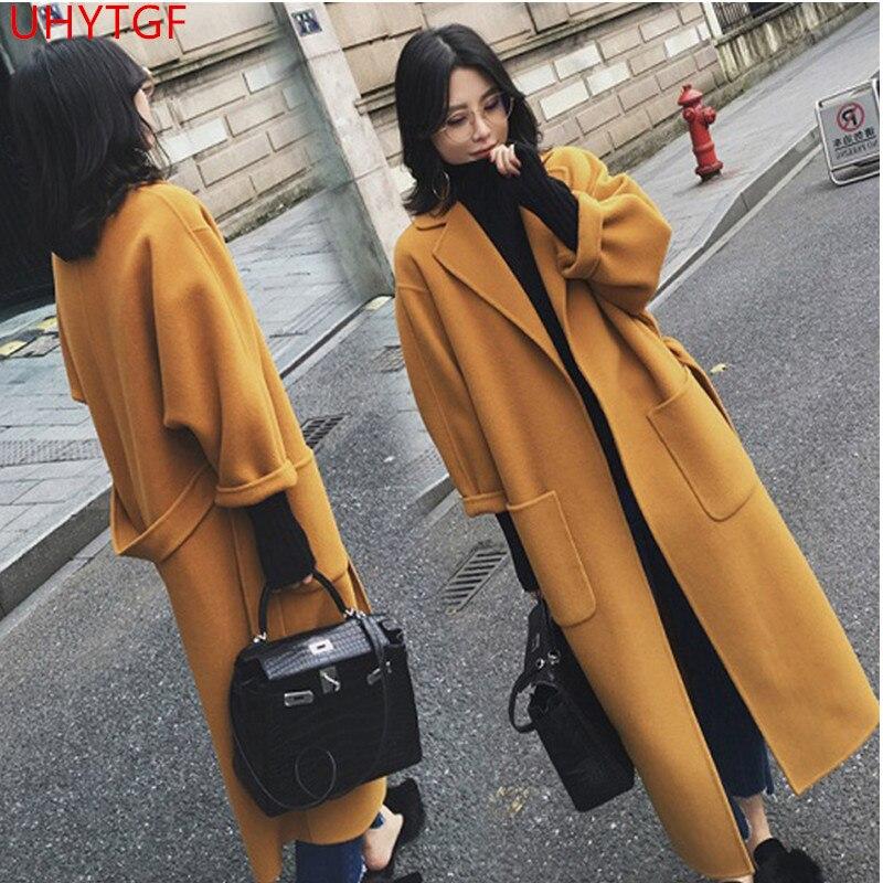 Laine La Vestes Dames Femmes Femelle souris Long Taille Plus De 602 Automne Manteau Qualité Chauve Yellow Haute Vêtements armygreen Nouvelle Manches Z5npX6W6