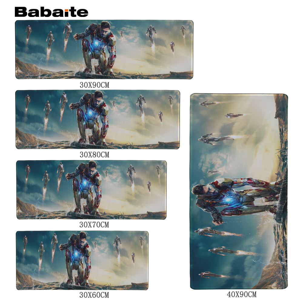 Babaite Iron Man Advice Mouse pad 700x300x3mm pad to Mouse Notbook Computer Mous
