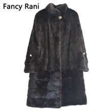 Real Fur New Style Ladies' Fashion Mink Coats Genuine Leathe