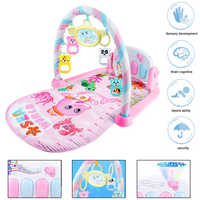 3 In 1 Baby Play Mat Rug Toys Crawling Music Play Game Developing Mat with Piano Keyboard Infant Carpet Baby Gym Rack Toy