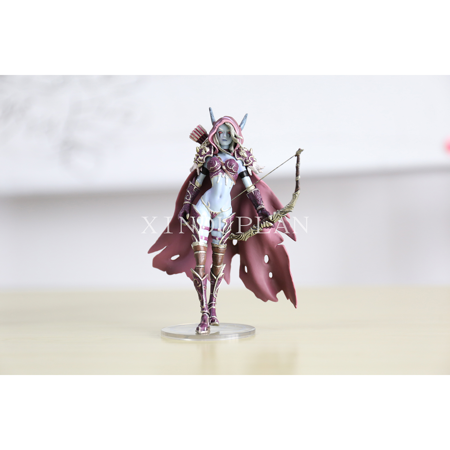 XINDUPLAN NEW Dota 2 Darkness Ranger Lady Sylvanas Windrunner Action Figure Toys 14cm PVC Game Kids PVC Collection Model 0315 game wow lich king sylvanas windrunner figma anime darkness ranger lady pvc action figure toy brinquedos kids birthday toys 6
