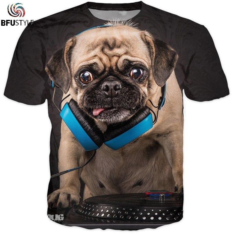 Audio Pug Mix Dj 3D T Shirt T-Shirt Men Women 2018 New Hip Hop Streetwear Tshirt Camisetas Hombre Casual Summer Tops Tees