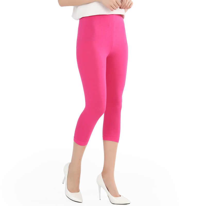 2020 Baru Wanita Legging Musim Panas Gaya Modal Pupuk Plus Ukuran 7XL Ukuran Besar Permen Warna Celana Wanita
