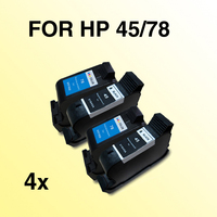 2x2pcs 45 78 INK Cartridge Compatible For HP78 45 1280 1180c 51645a Freeshipping
