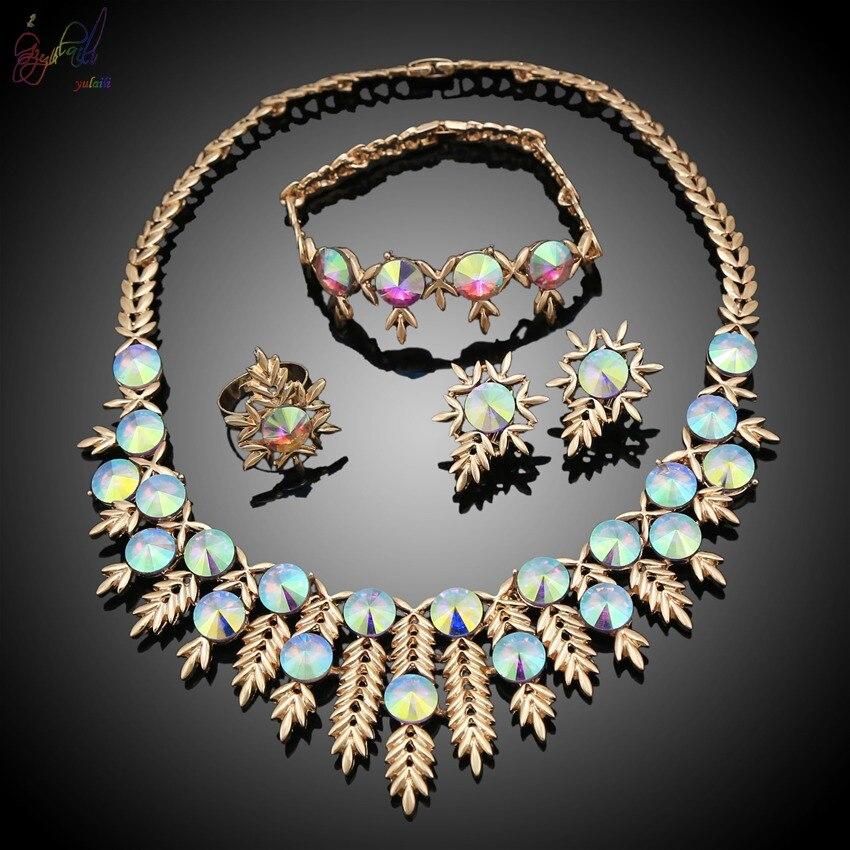 Collier en cristal bijoux indiens en ligne ensembles de bijoux de fantaisie pendentifs en argent colliers de Designer