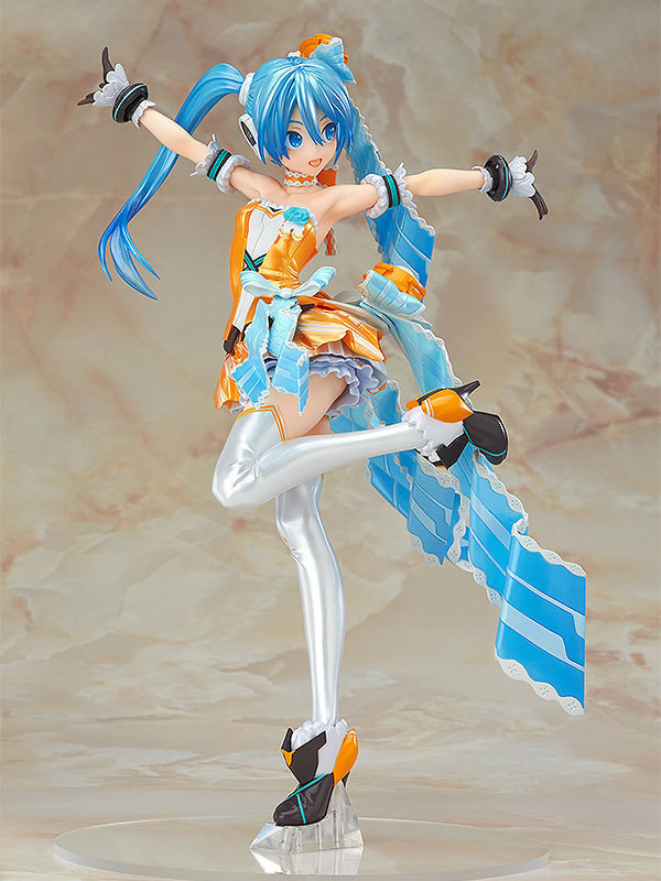 Anime Hatsune Miku Orange Blossom Miku ver. 1/7 Scale Pre-painted Sexy PVC Action Figures Collectible Model Toys Doll 23cm japanese anime doll cute nendoroid hatsune miku mid autumn miku 539 pvc action figure model toy doll 4 10cm