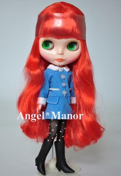 Free shipping Nude Blyth Doll, red   hair, big eye doll,For Girl's Gift, PJ0014 free shipping nude blyth doll black3 hair big eye doll for girl s gift pjb003
