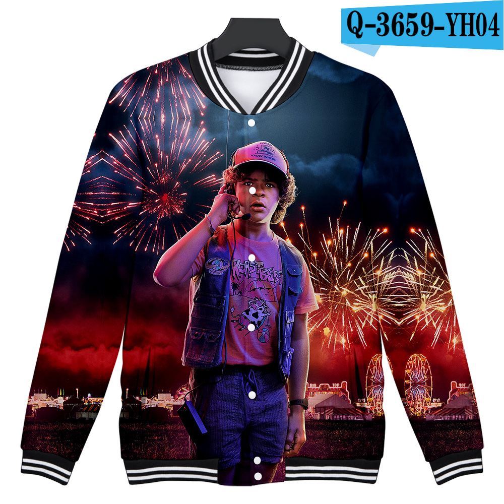 2019 NEW Stanger Things 3D print Fashion baseball Jacket in boys/girls Winter Jacket Hip Hop outwear software Jackets 3D clothes image