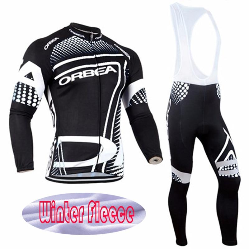 Prix pour 2015 Unisexe GEL Respirant Pad Pro Équipe Hiver Polaire Thermique Cyclisme Vêtements Jersey Ropa ciclismo invierno Vélo vêtements