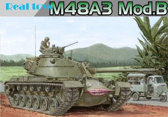 ФОТО dragon model 3544 1/35 m48a3 mod.b plastic model kit